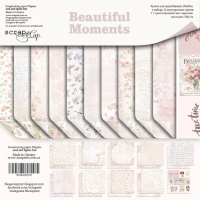 "Набор скрапбумаги  ""Beautiful Moments"" 20*20 см."
