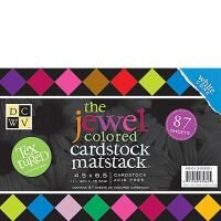 Кардсток с текстурным покрытием Jewel Colored Cardstock. Mat Stack/ производитель DCWV