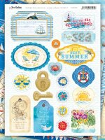 НАБОР Чипборда  SEA adventure  Bee Shabby