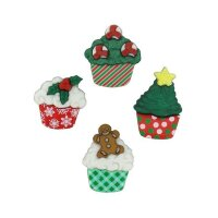 Набор пуговиц Dress It Up. Christmas Cupcakes