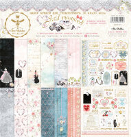 НАБОР БУМАГИ Just Married  Bee Shabby